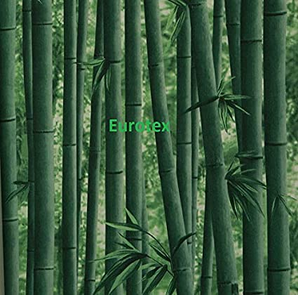 Eurotex Textured Vinyl PVC Coated 3D Green Bamboo Wallpaper for Wall  Decoration (57sqft/Per roll)0901