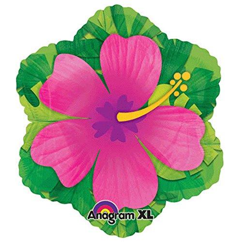 - 15 Inch Pink Hibiscus Shape Balloon