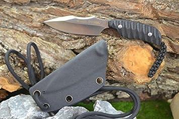 Real Steel neckknife 130 A D2 acero, 57 - 61hrc, cuchillo de ...
