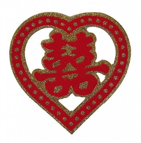 - Feng Shui Import Heart Shaped Double Happiness Sign