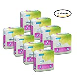 PACK OF 8 - Tena Incontinence Pads For Women, Instadry Heavy, Regular, 12