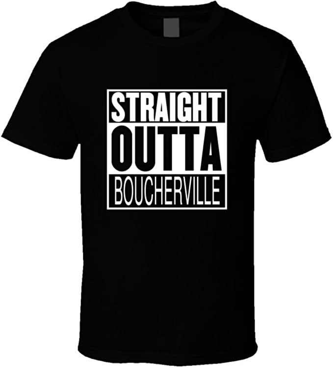 Straight Outta Boucherville Quebec Parody Movie T Shirt