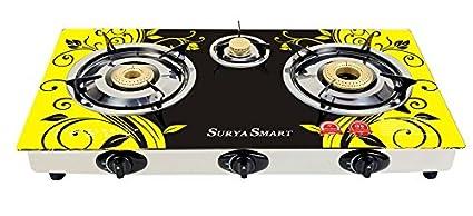 Surya Smart SS505Y 3 Burner Auto Gas Cooktop