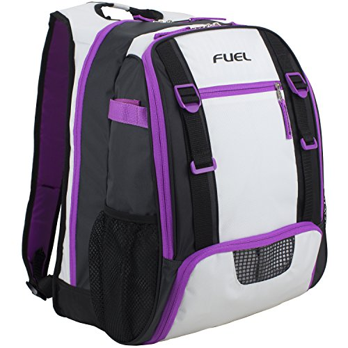 Price comparison product image Fuel All Sport Backpack (for gym,  baseball,  basketball,  football,  soccer,  volleyball,  tennis,  and yoga),  White / Grape / Purple