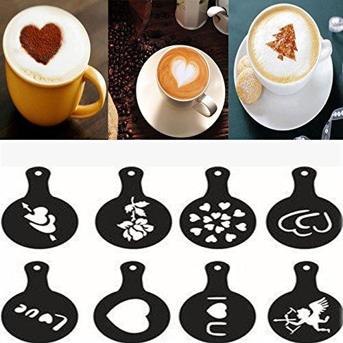 Jackolantern Stencils (Money coming shop 8 X Latte Art Coffee Stencil Cappuccino Foam Craft Decorate Milk Drink Mould Hot)