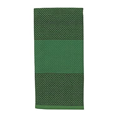 Kate Spade Color Block Honeycomb Stripe Kitchen Towel, 17 x 28 , Picnic Green