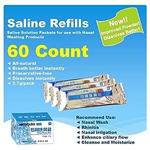 Amazon Com Waterpulse 60 Count Saline Nasal Care Refills
