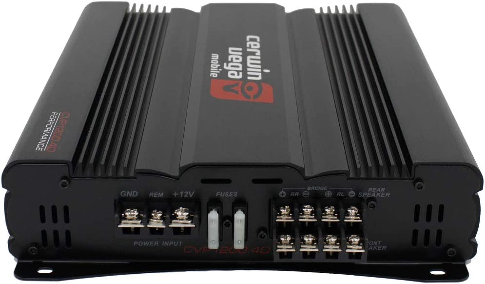 Free LAB Sticker Cerwin Vega CVP1200.4D CVP Series 4-Channel Class-D Amplifier 600W RMS