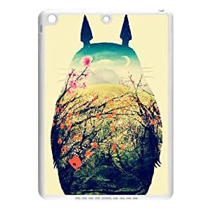 Hand Painted Animal Cartoon Series Totoro Color Design Popular Coral Custom Luxury Cover Case For IPad air (Ipad 5)(White) with Best Plastic ALL MY DREAMS