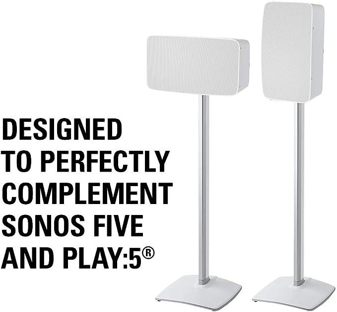 Sanus Kabelloser Lautsprecher Ständer Für Sonos Play 5 Weiß Audio Hifi