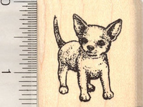 Chihuahua Dog Rubber Stamp