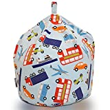 Textile Warehouse XL Traffic Cars Transport Blue Childrens Boys Kids Cotton Beanbag Bean Bag Chair