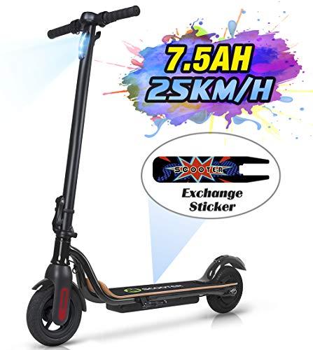 """MEGAWHEELS S10 Electric Scooter, 25KM Long Range Battery, Up to 15.5 MPH, 8"""" Tires, Ultra-Lightweight, Portable and Folding Commuter Electric Scooter for Adults."""