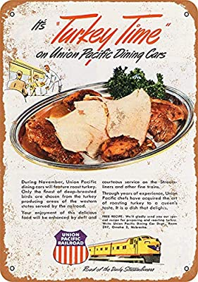 Union Pacific Dining Cars Póster de Pared Metal Creativo ...