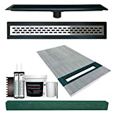 """36"""" x 60"""" Linear Shower Slope Kit Right with"""