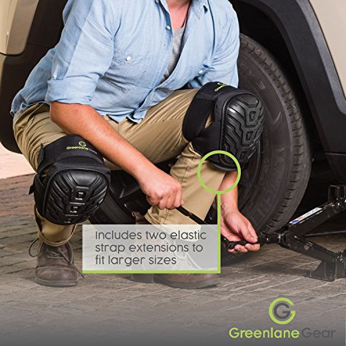 Gel Knee Pads for work designed to prevent slipping/sliding for gardening, construction, floor, tiling - Industrial grade heavy duty flexible kneepad- soft kneepads fits all (small-large) men/women by Greenlane Gear (Image #6)