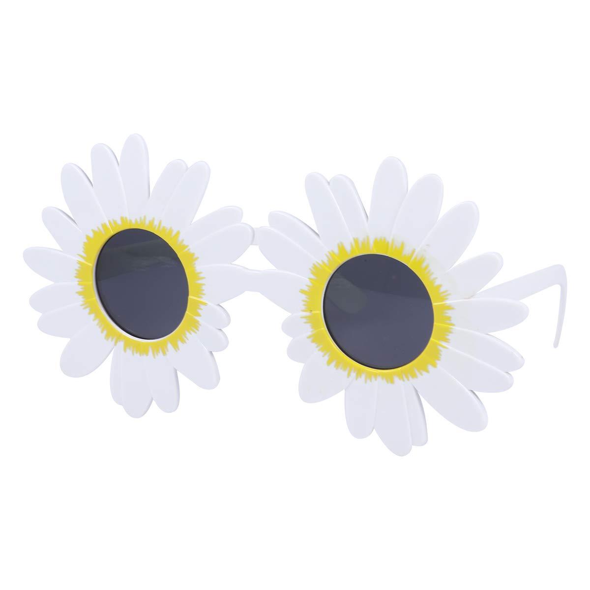 Amosfun Daisy Flower Gafas de Sol Decoración de Fiesta Tropical ...
