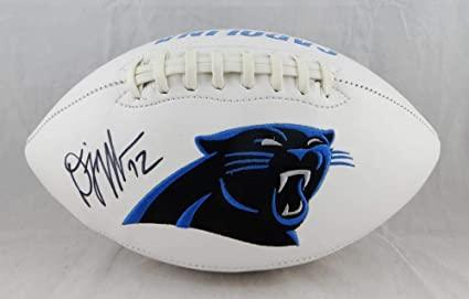 hot sale online ce223 31d4c DJ Moore Autographed Carolina Panthers Logo Football ...