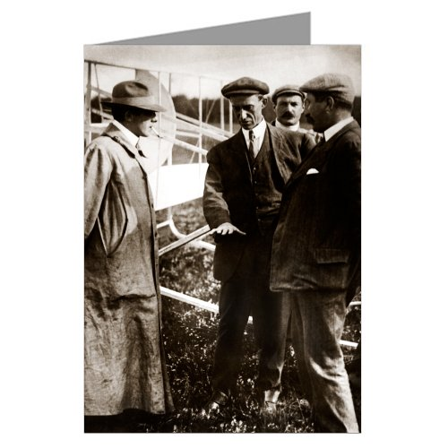 Hawk Glider - Single Orville and Wilbur Wright Discussing Their Historic, Heroic Flight at Kitty Hawk Greeting Card
