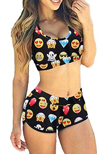 TOP HERE Women's 2017 Bandage Sporty Bathing Suit Boyleg Short Bikini Swimming Suit (M(US Size:6-8), - 2017 Athletic Swimsuits