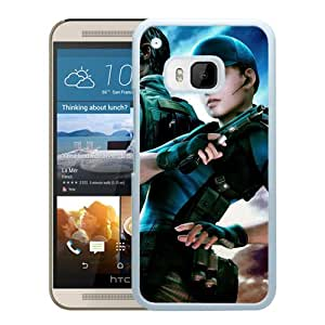 M9 case,Resident Evil Characters Girl Gun Sky White HTC ONE M9 cover