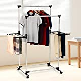 Laundry Drying Rack For Clothes - SUNPACE SUN001 Rolling...