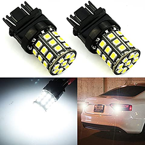 JDM ASTAR Super Bright AX-2835 Chipsets 3056 3156 3057 3157 LED Bulbs ,Xenon White (Only used for backup reverse - 1991 Chrysler New Yorker
