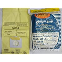 Kenmore 50558, 5055, 50557 Micro Filtration Canister Vacuum Bags, 45 Bags