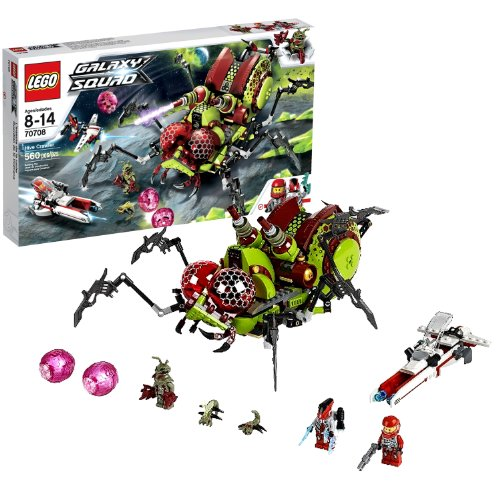 Lego Year 2013 Galaxy Squad Series Vehicle Set #70708 - HIVE CRAWLER with Planet Speeder, Sky Speeder, 2 Insectoids, Billy Starbeam, Robot Sidekick and Alien Mantizoid Minifigures (Total Pieces: 560)
