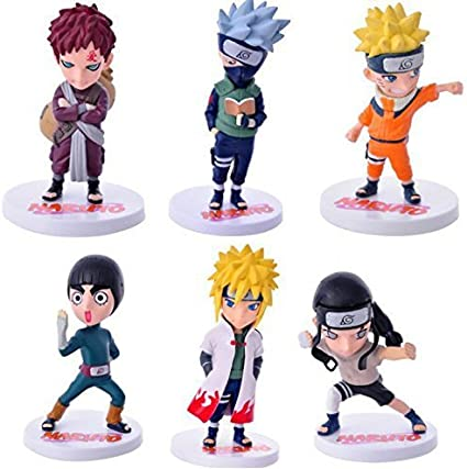 6 PCS Naruto Action Figure Toys 12 Styles PVC Model Doll Collection Toy