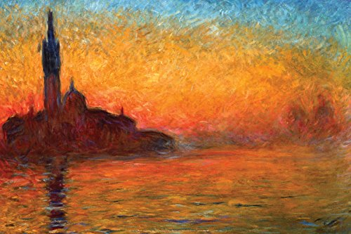 Claude Monet Dusk in Venice 1908 Decorative Fine Impressionist Art Poster Print Tubed