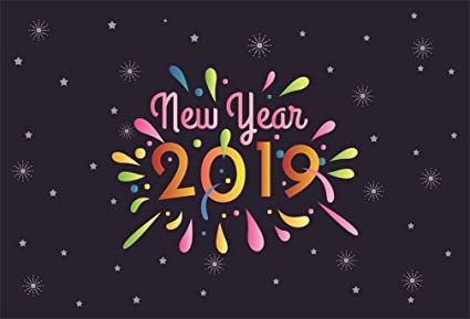 aofoto 6x4ft 2019 happy new year backdrop abstract snowflake stars background cute colorful ink dots graffiti