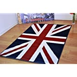 Homescapes 100% Cotton Printed Rug Union Jack Floor Runner 66 x ...