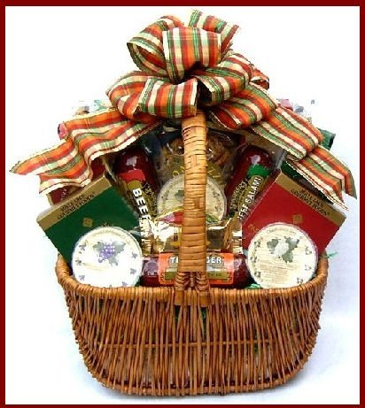 Gift Basket Village -  A Cut Above, Fall Cheese and Sausage Gift Basket Loaded With Flavors of the Season (Medium, 7 pound) ()
