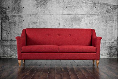 Furniture of America Killon Mid Century Sofa, Red