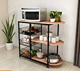 Kitchen racks / kitchen supplies shelves / 3-layer microwave oven shelves ( Color : C , Style : Chassis )