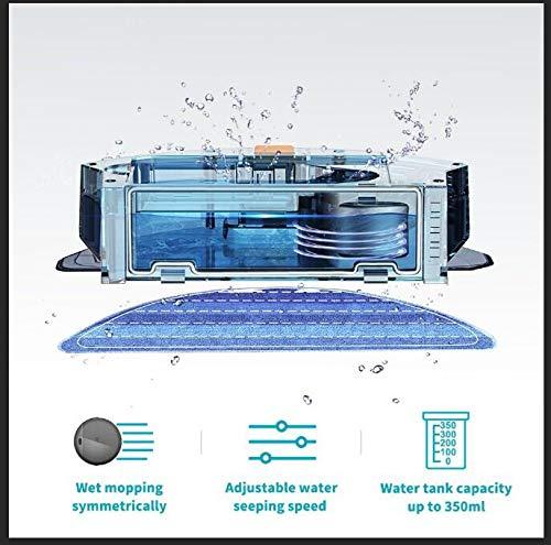 proscenic Aspirador de Robot, 800T aspiración y fregasuelos 2 en 1, Rendimiento Mejorado, con aplicación y Control Remoto, Tanque de Agua eléctrico: ...