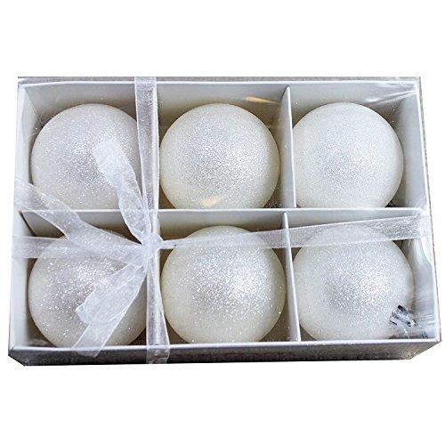 Snowball Ornament (Generic Snowball Shatterproof Christmas Tree Ornament 3.15 Inch 80mm Set of)
