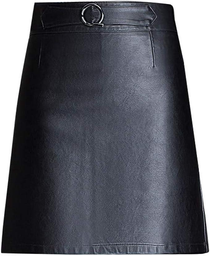 E-girl E3512 Mini Rock - Falda de piel sintética para mujer ...