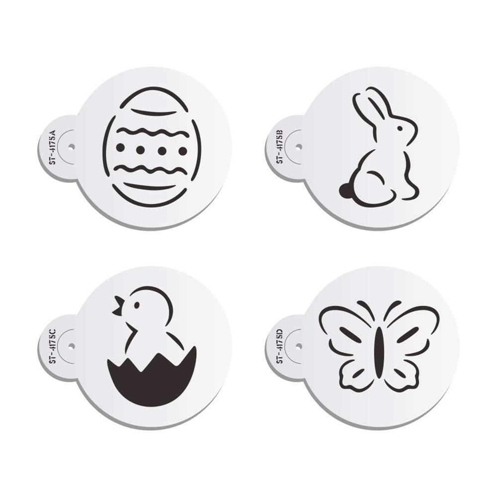 Amazon Com Ak Art Kitchenware Easter Egg Cookie Stencils For