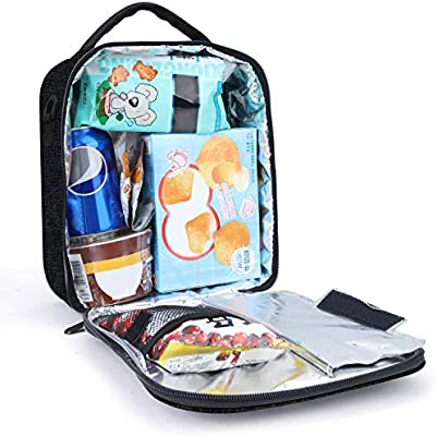 47570e97e1f5 Lunch Box with Padded Liner,Amersun Spacious Insulated Lunch Bag Durable  Thermal Lunch Cooler Pack with Strap for Boys Men Women Girls Adults School  ...