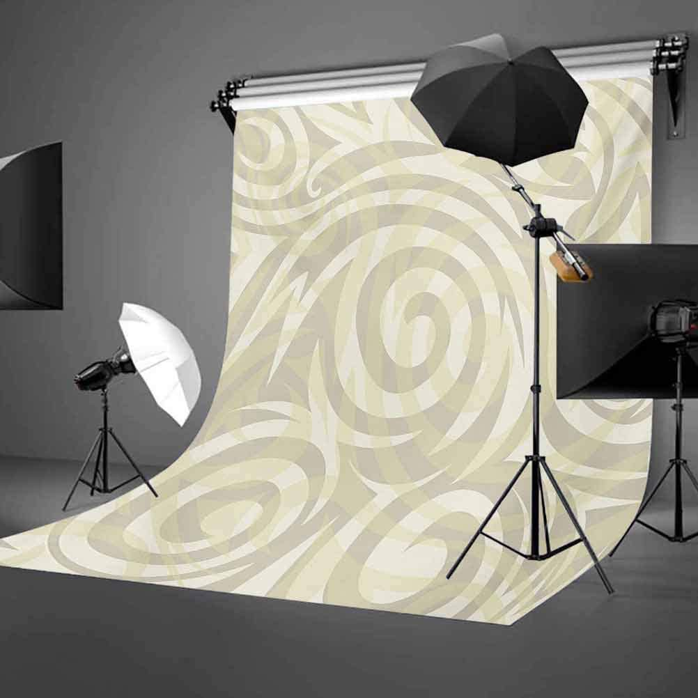 Vintage Swirling Floral Design with Authentic Faded Colors Natural Effects Background for Child Baby Shower Photo Vinyl Studio Prop Photobooth Photoshoot Modern Art 10x12 FT Photography Backdrop
