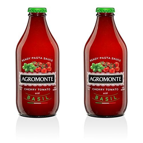 Agromonte Authentic Italian Cherry Tomato Sauce (Basil, 2 Pack 11.64 Oz)