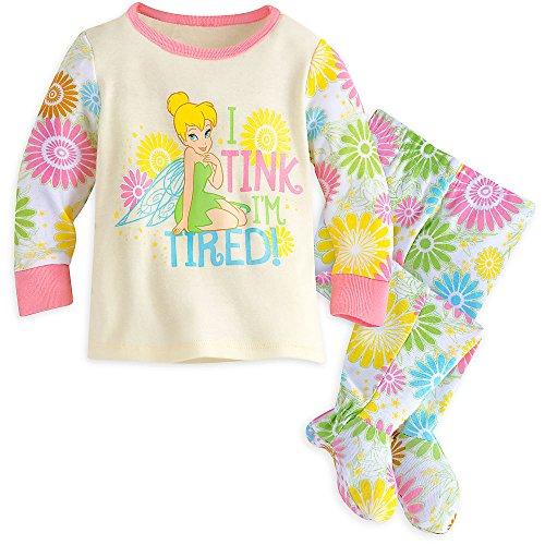 Disney Baby Tinker Bell Footed PJ PALS Pajamas 0-3 MO