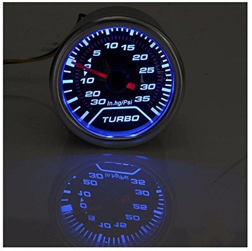 """2/"""" 52mm Car Universal Pointer Psi Turbo Boost Gauge Meter Smoke Tint Len LED"""