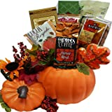 Art of Appreciation Gift Baskets Fall Harvest Ceramic Pumpkin Gourmet Food Gift Basket