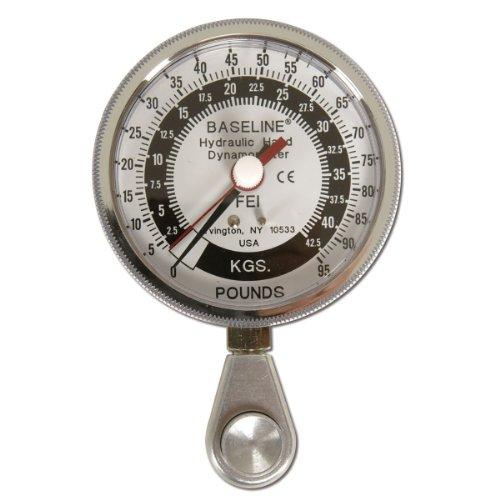Baseline-12-0228-Hydraulic-HiRes-Pinch-Gauge-Large-Head-3-12-Diameter-95-lbs-Capacity
