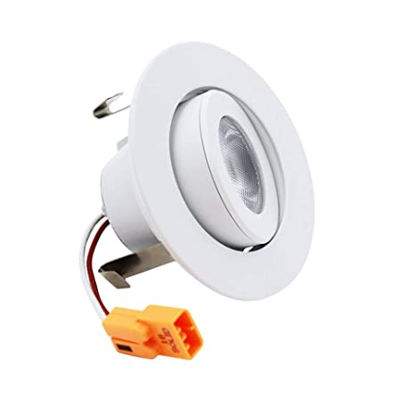 "the best attitude 87671 69a7a ESD Tech 2"" Inch LED Recessed Lighting Trim Bulb – Gimbal/Adjustable  Eyeball Design. Dimmable Downlight Retrofit Fixture, 3000K, 9W, Requires  Housing, ..."