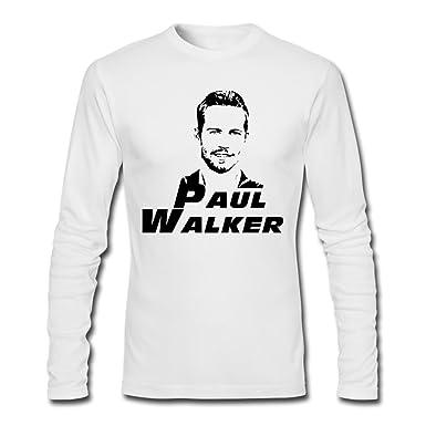 bc4022c0a Amazon.com: ZhaoHui Sale Mens Paul Walker Long Sleeve T Shirts: Clothing