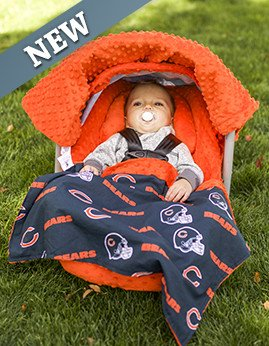 NFL Chicago Bears the Whole Caboodle 5pc Set - Baby Car Seat Canopy with Matching Accessories & Amazon.com: NFL Chicago Bears the Whole Caboodle 5pc Set - Baby ...